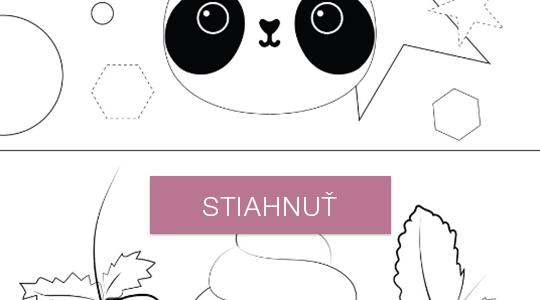 Omaľovánky - panda a ovocie