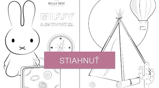 Omaľovánky - Miffy a stan