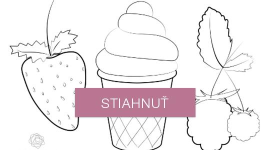 Omaľovánky - ovocie a zmrzlina