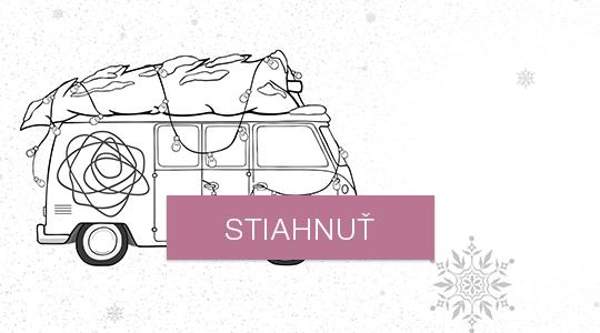 Novoročné/vianočné prianie - auto na vyfarbenie
