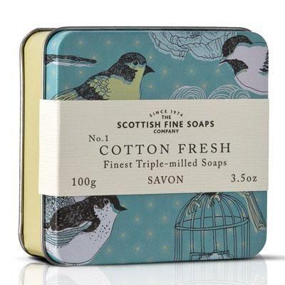 Scottish fine soaps Mýdlo v plechové krabičce - BAVLNA