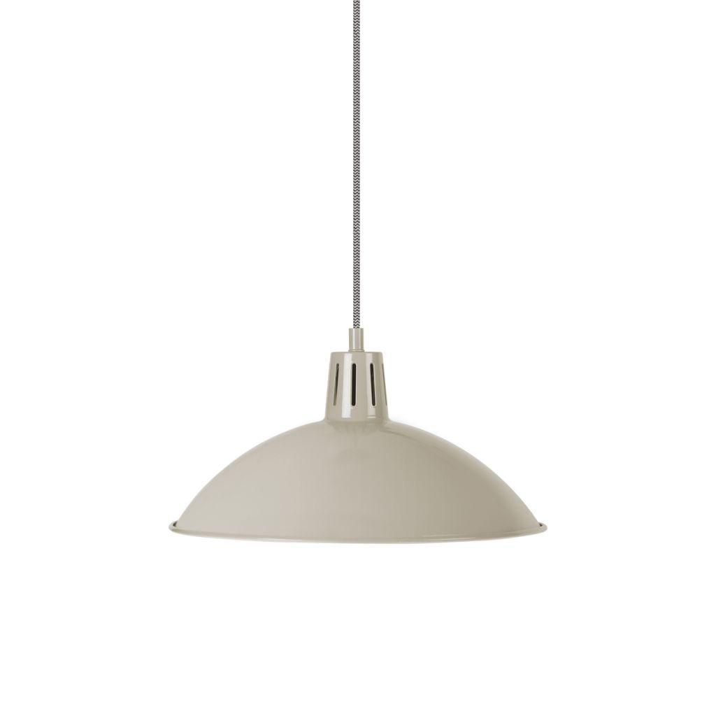 Garden Trading Závěsná stropní lampa Clay, béžová barva, kov