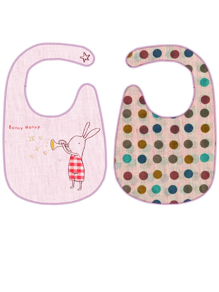 Maileg Bryndáček Bunny Honey, růžová barva, textil