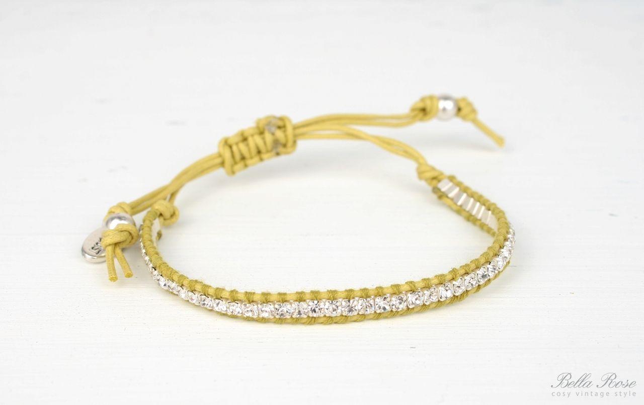 HULTQUIST Náramek Crystals yellow, žlutá barva B291007280E