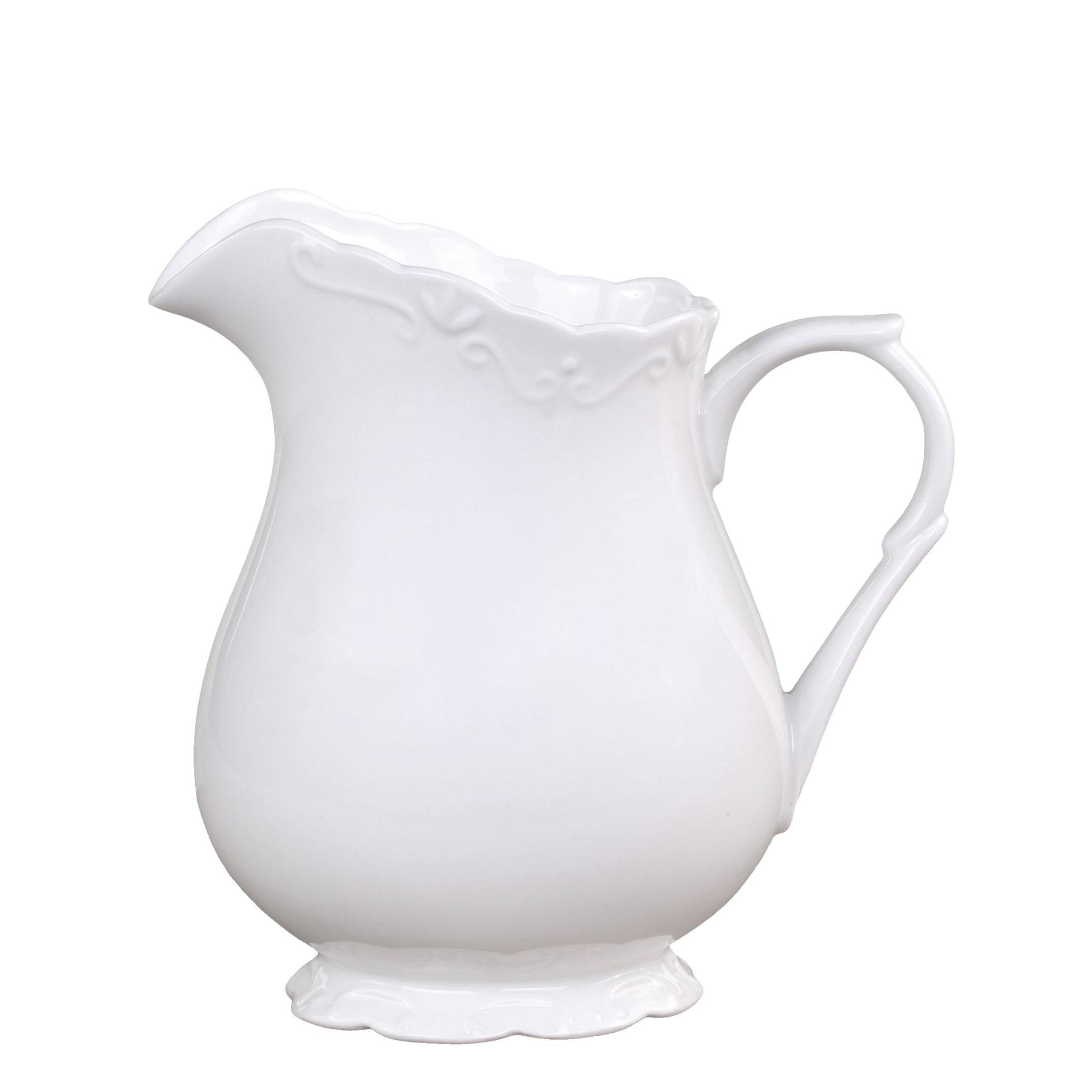 Chic Antique Džbán Provence, bílá barva, porcelán