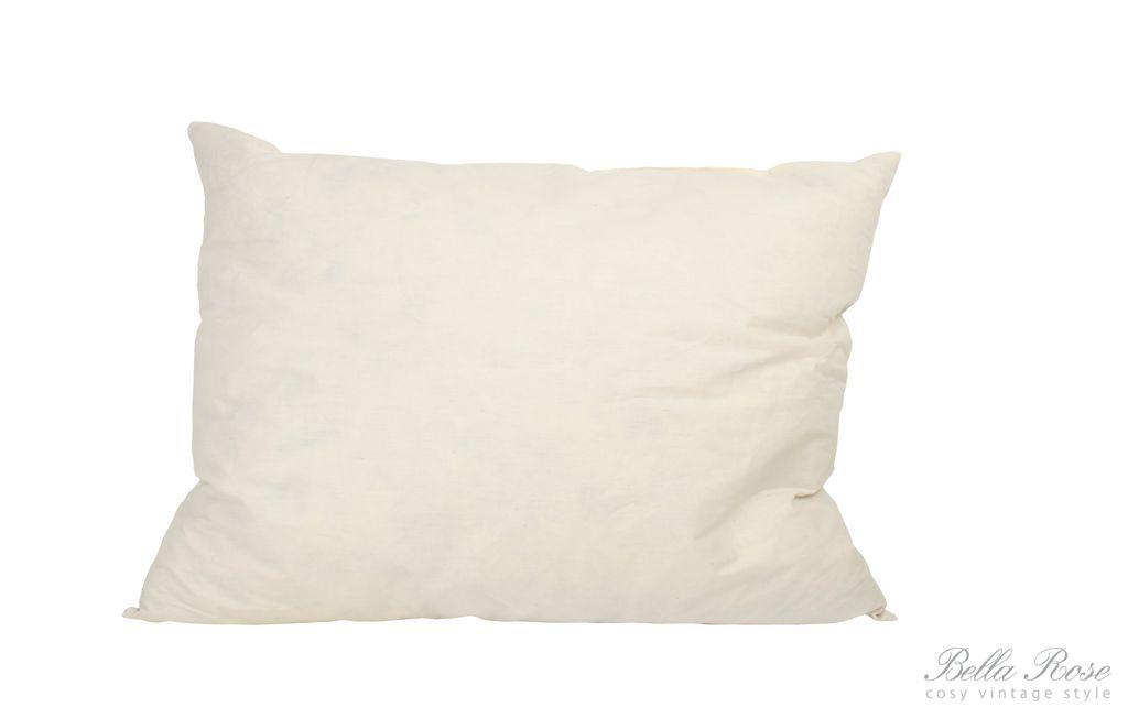 Výplň do polštáře 35x50 cm, bílá barva, textil