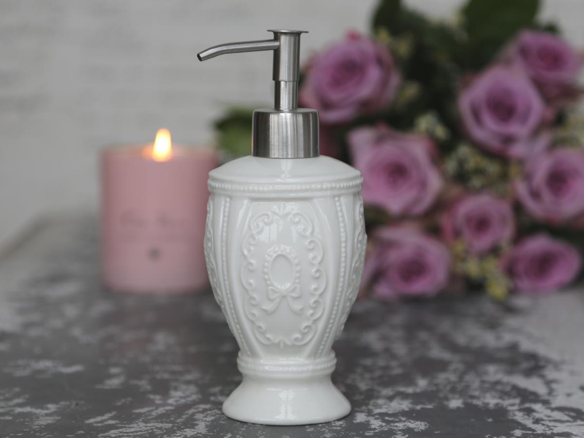 Chic Antique Zásobník na mýdlo Marie Antoinette, bílá barva, porcelán