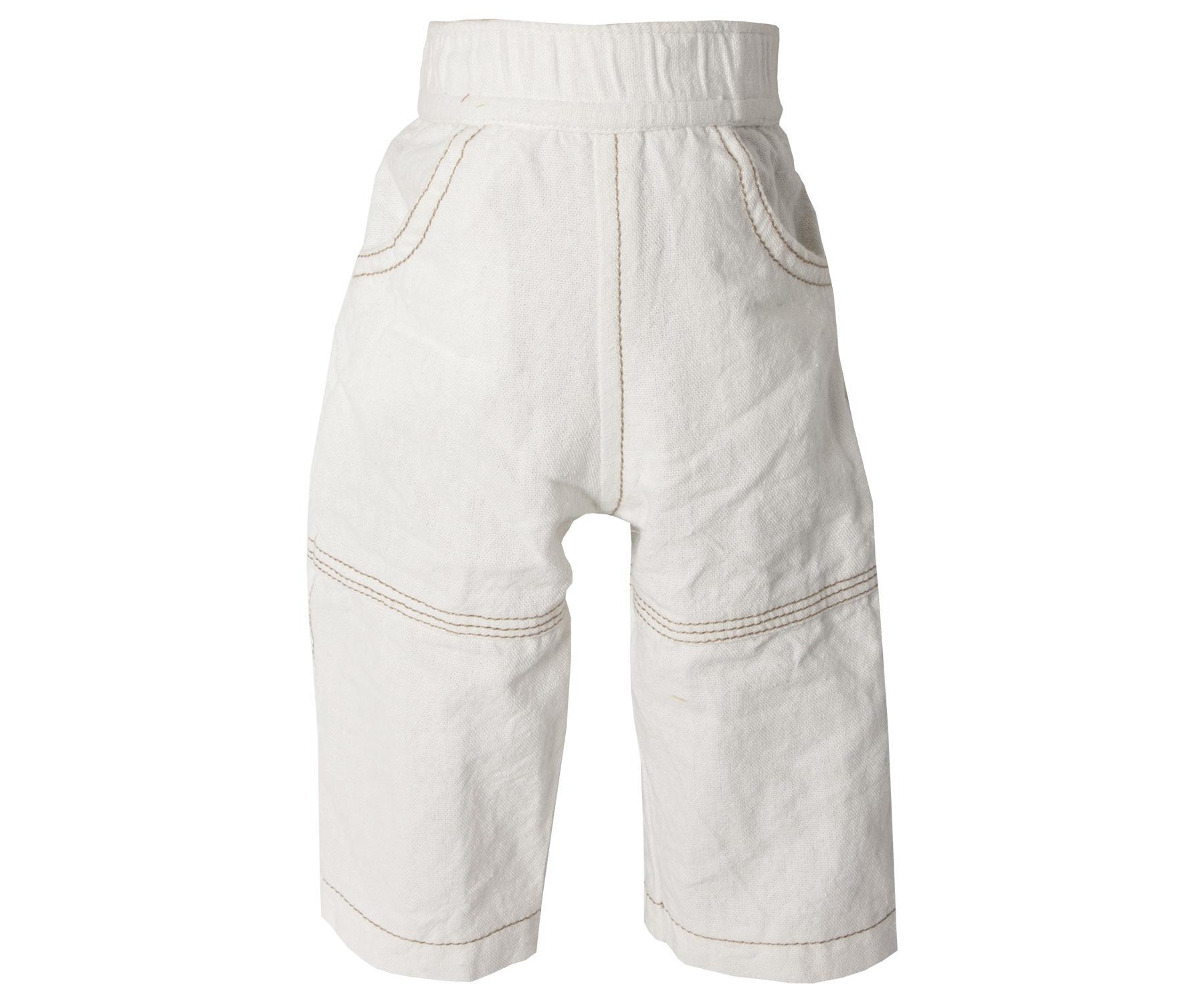 Maileg Bílé kalhoty – mega, béžová barva, textil