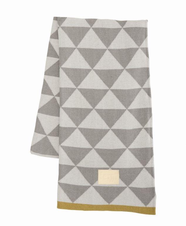 ferm LIVING Deka Remix Grey 120x150, šedá barva, textil