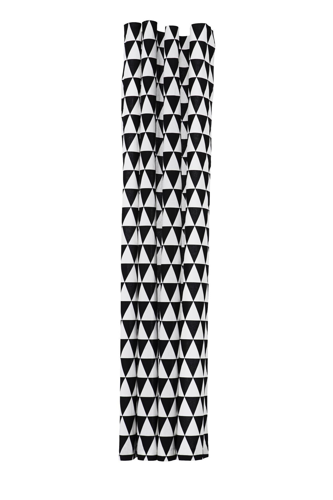 ferm LIVING Koupelnový závěs Triangle 160x200, černá barva, textil