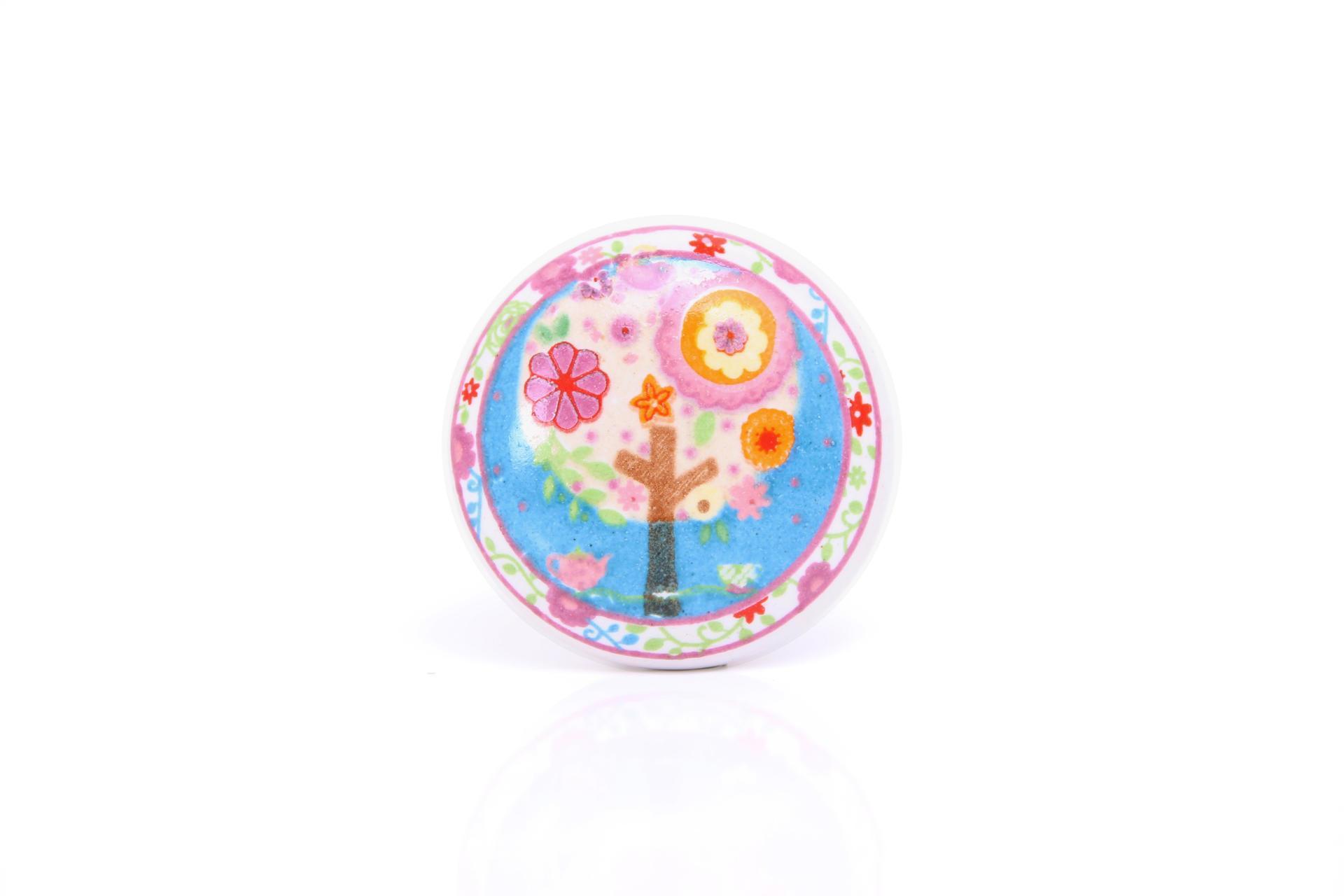 La finesse Porcelánová úchytka Colour, multi barva, porcelán