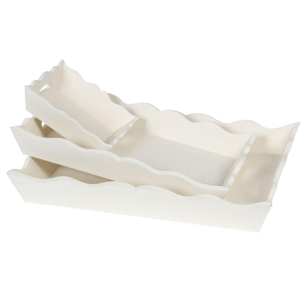 Côté Table Dřevěný podnos obdelníkový Blanc Větší
