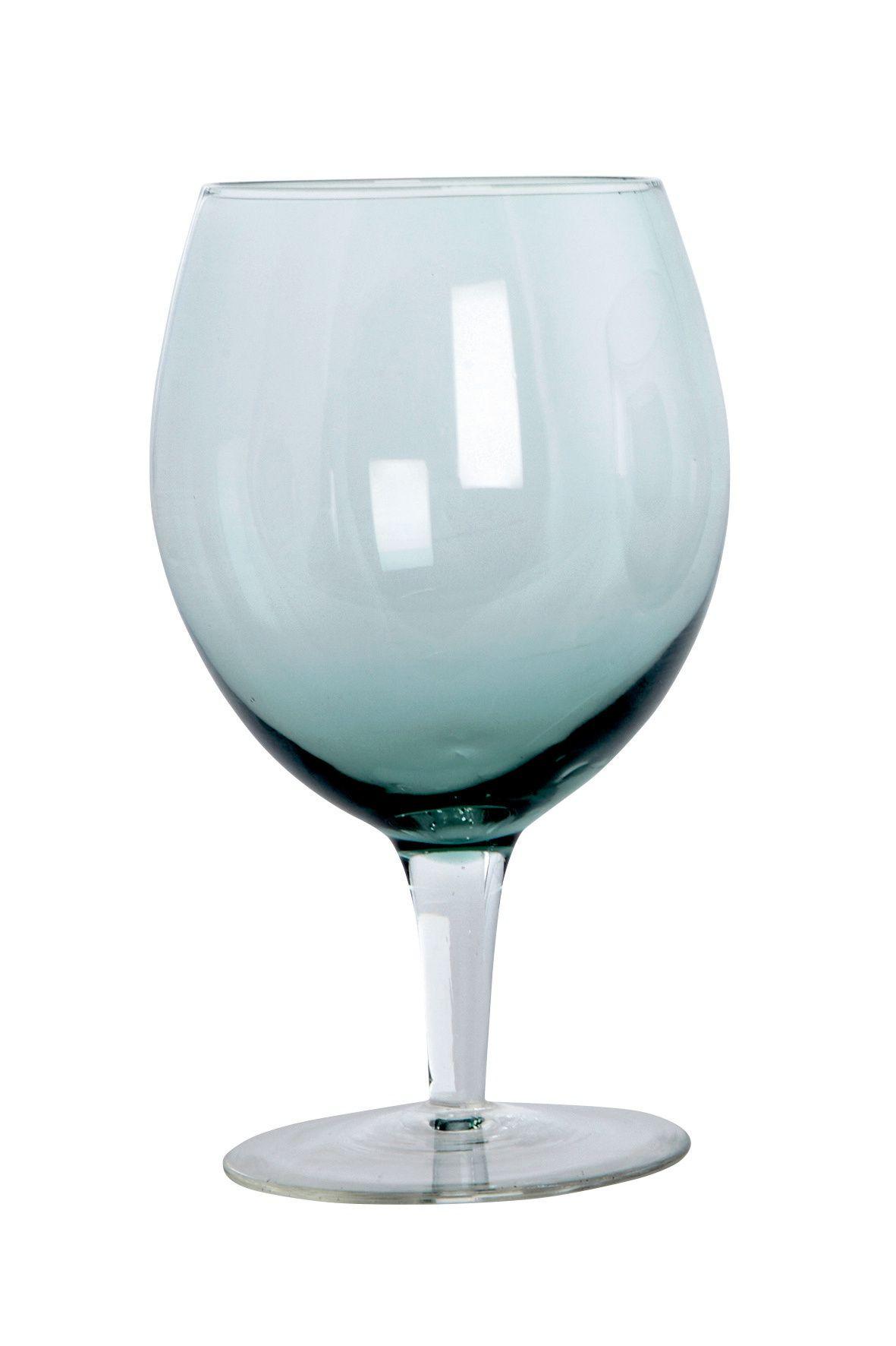 House Doctor Sklenice na víno Dust green, zelená barva, sklo