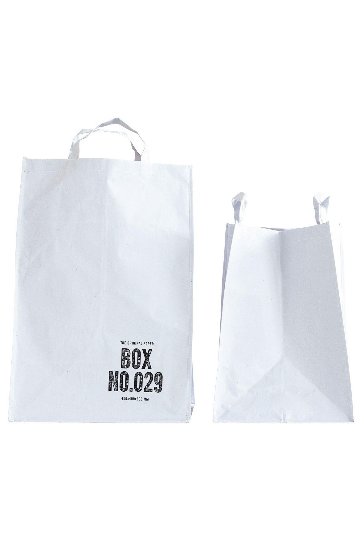 House Doctor Dekorativní taška white BOX NO.028 Větší, bílá barva, papír