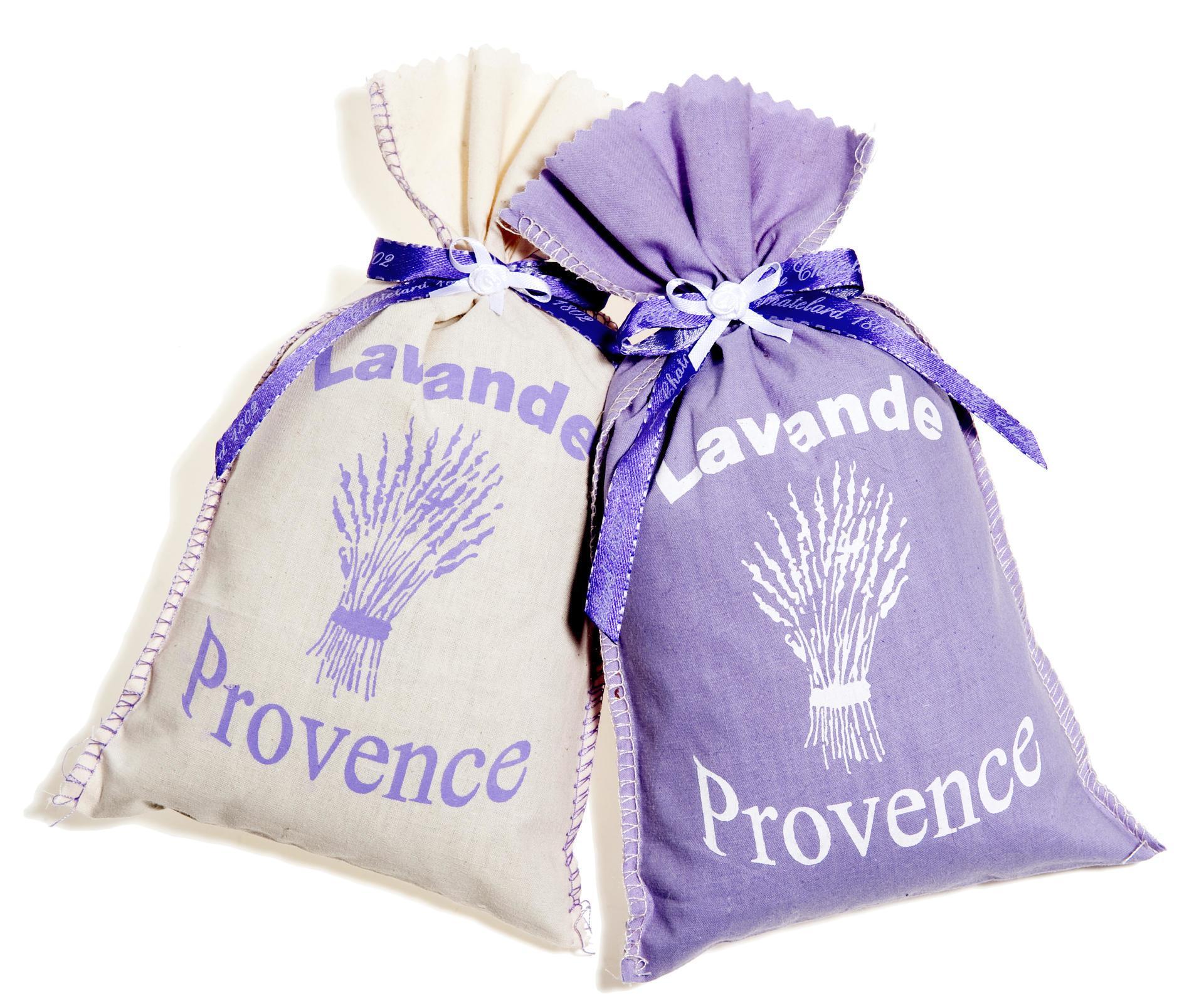 Le Chatelard Pytlíčky s levandulí bílá/lila set 2 ks