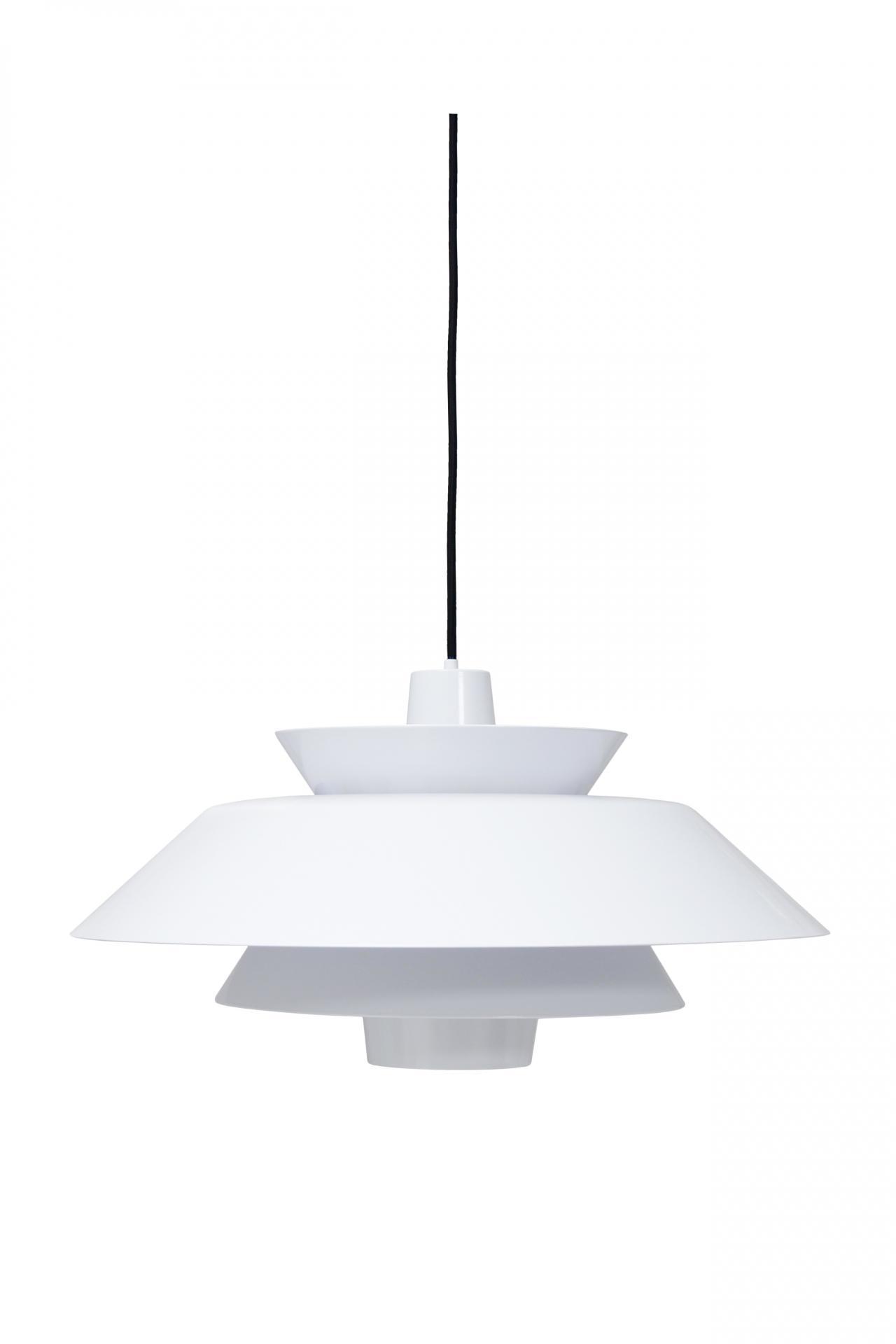 HK living Stropní lampa Lounge White, bílá barva, kov