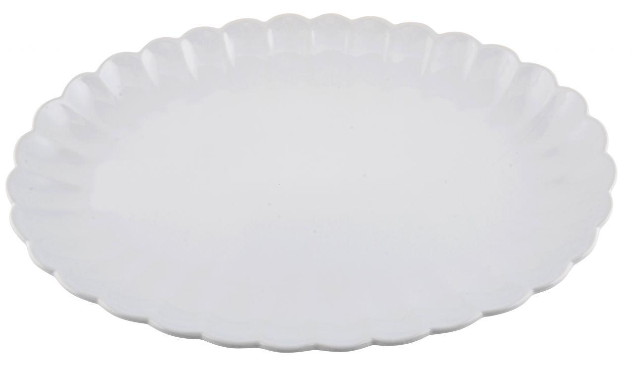 IB LAURSEN Servírovací talíř Mynte white 40 cm, bílá barva, keramika