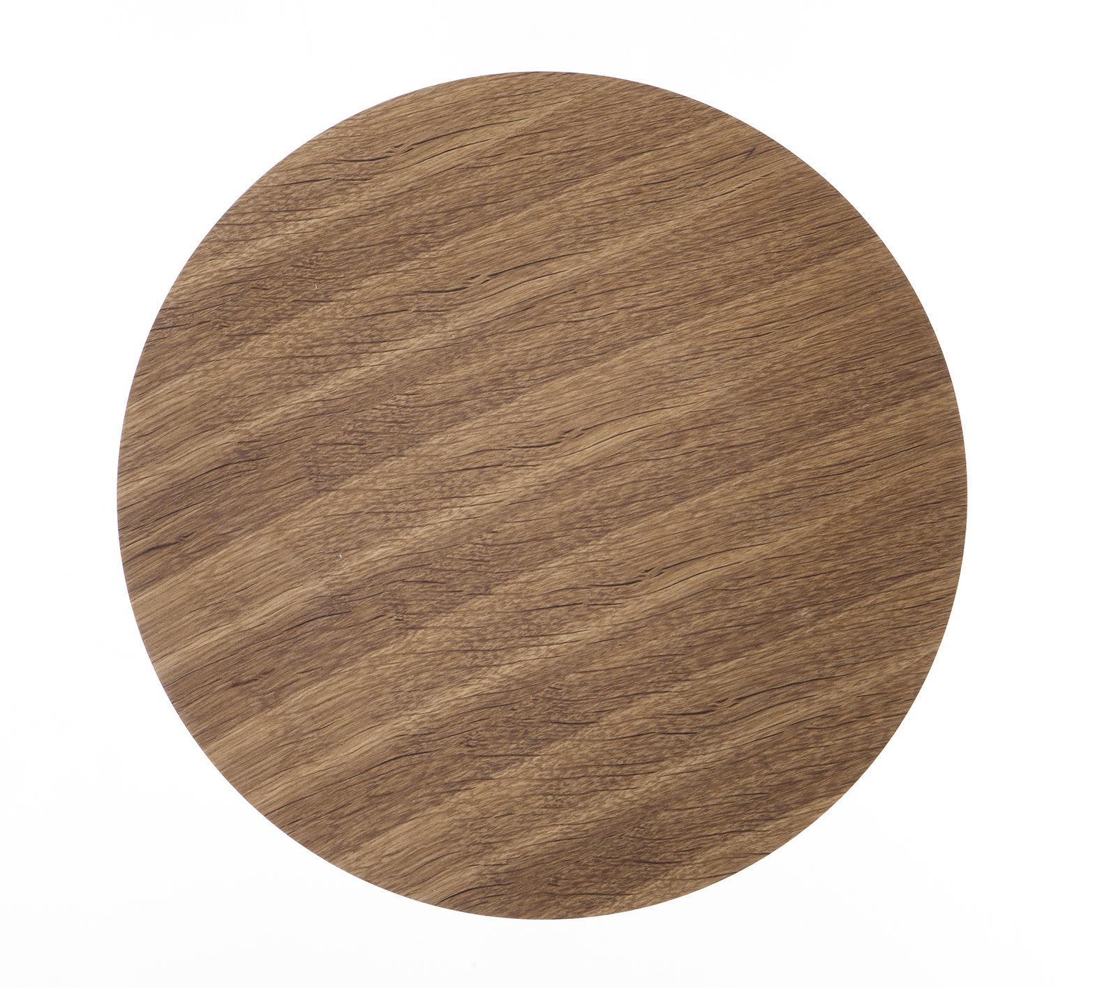 ferm LIVING Dřevěný poklop na drátěný koš Smoked Oak - medium