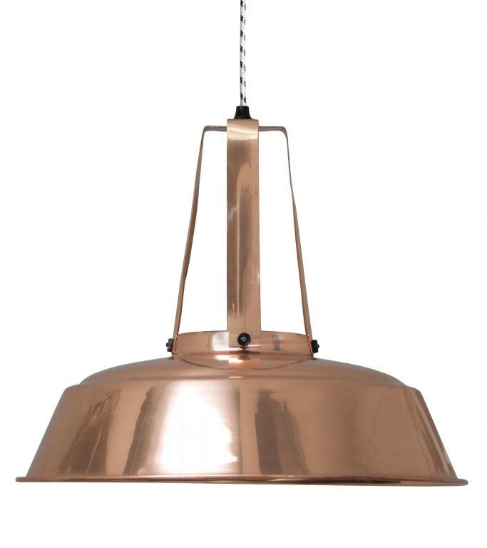 HK living Stropní lampa Copper, oranžová barva, kov