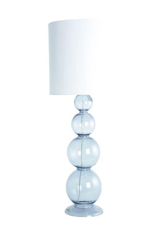 House Doctor Lampa Bubble grey, šedá barva, sklo, textil