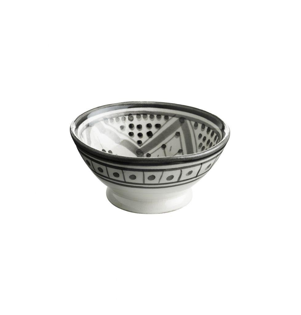 Tine K Home Mini miska Morocco grey, šedá barva, bílá barva, keramika