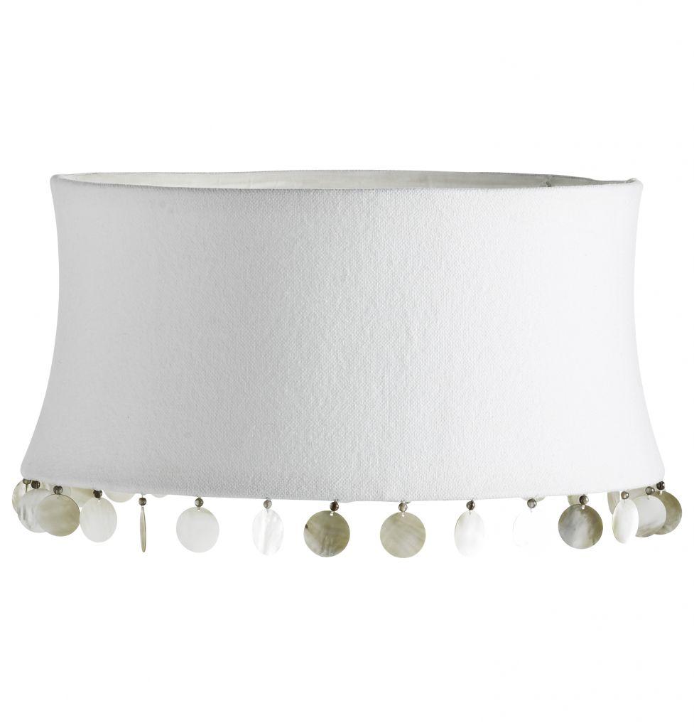 tineKhome Cylindr Tine K Home - bílý s perletí 35cm, bílá barva, textil