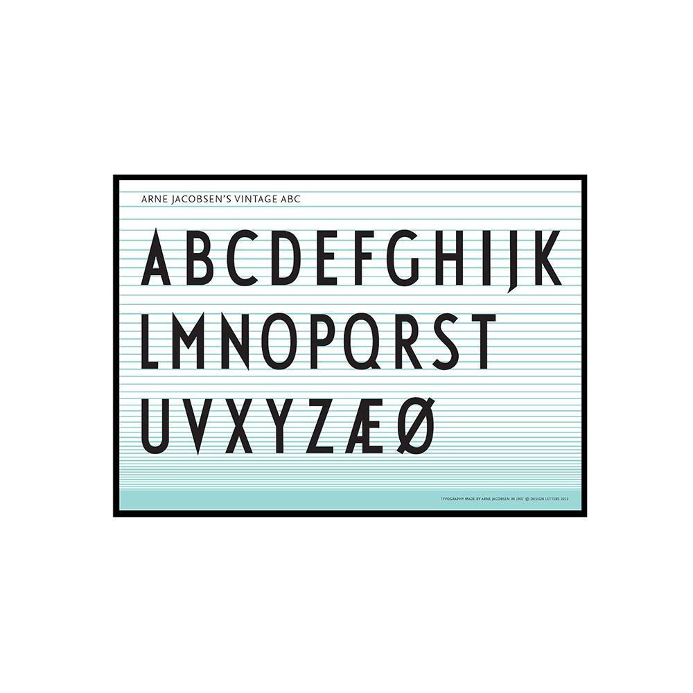 Design Letters Plakát Letters 50x70