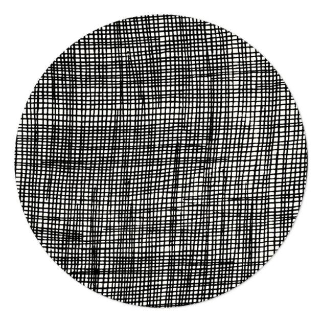 Fine Little Day Podložka Checked 21 cm, černá barva, dřevotříska