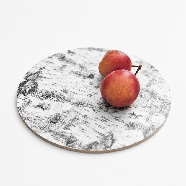 Fine Little Day Podložka Birch 21 cm, šedá barva, dřevotříska