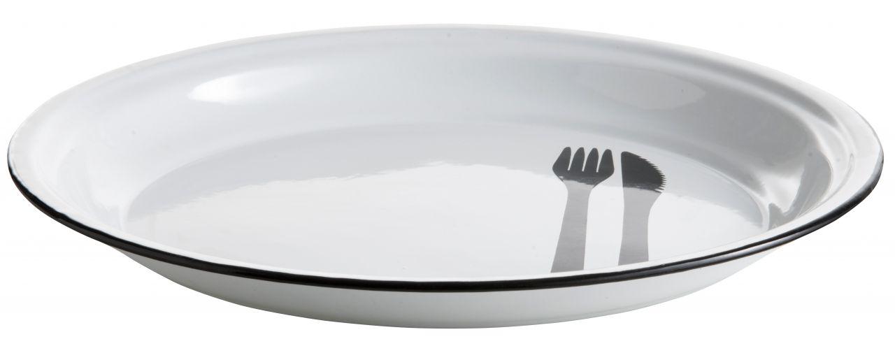 Madam Stoltz Smaltovaný talíř 30cm