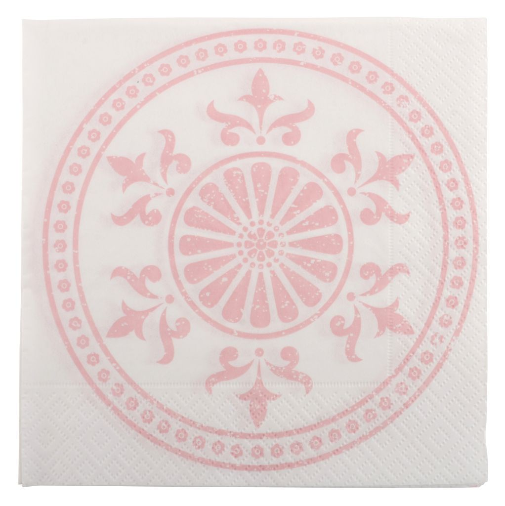IB LAURSEN Papírové ubrousky Circle pink
