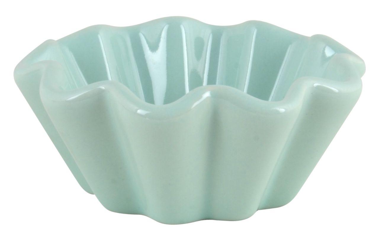 IB LAURSEN Keramická forma na muffiny Mynte Mint green, zelená barva, keramika