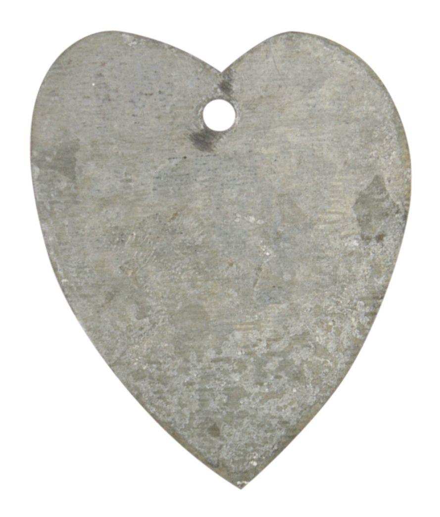 IB LAURSEN Dekorativní zinkové srdíčko, šedá barva, zinek