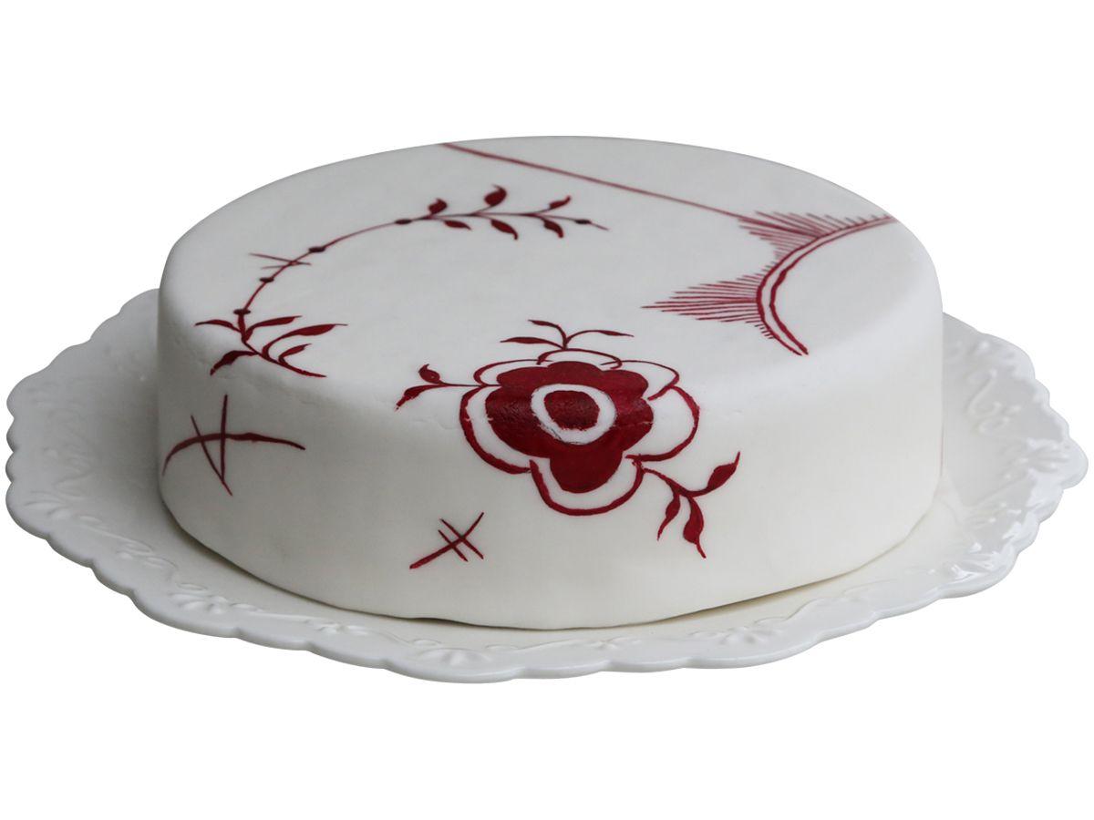 Chic Antique Porcelánový talíř Provence 33cm, červená barva, bílá barva, porcelán