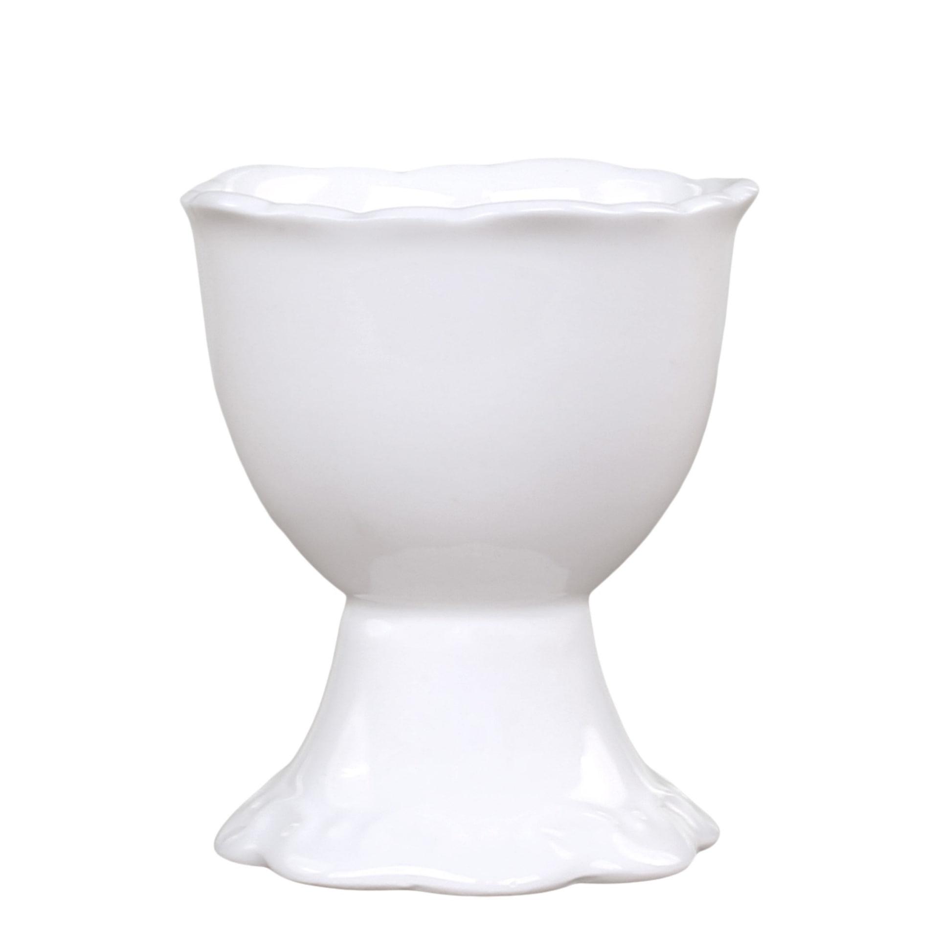 Chic Antique Porcelánový stojánek na vejce Provence, bílá barva, porcelán