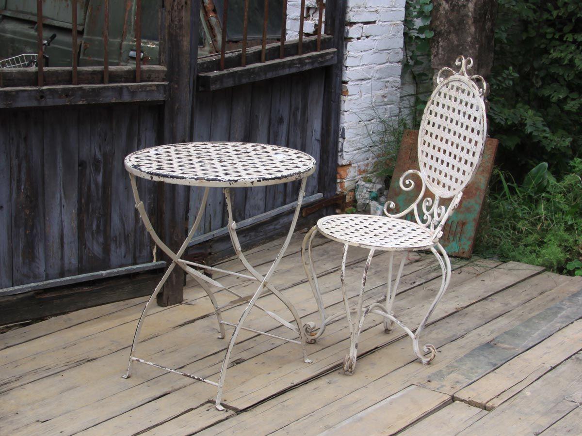 Železná židle Antique White