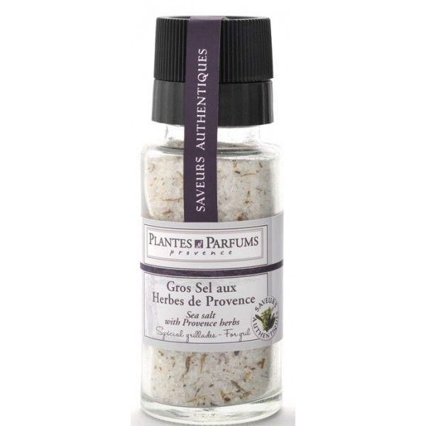 PLANTES ET PARFUMS provence Sůl s provensálským kořením v mlýnku, bílá barva