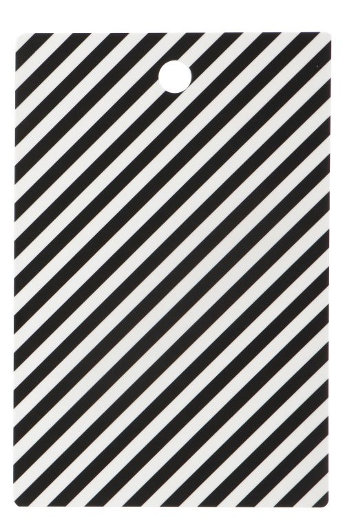ferm LIVING Servírovací prkénko Black Stripe