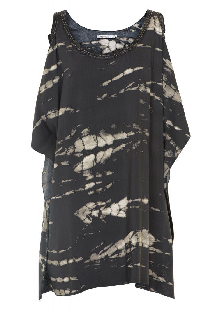 Tunika Joyce Velikost 34, černá barva, textil