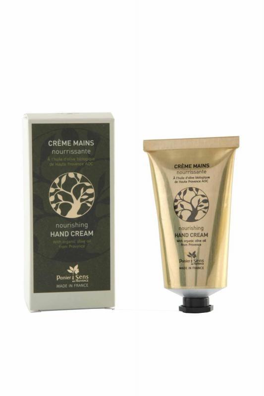 Panier des Sens Krém na ruce s olivovým olejem, zelená barva