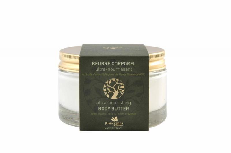 Panier des Sens Tělové máslo s olivovým olejem, zelená barva
