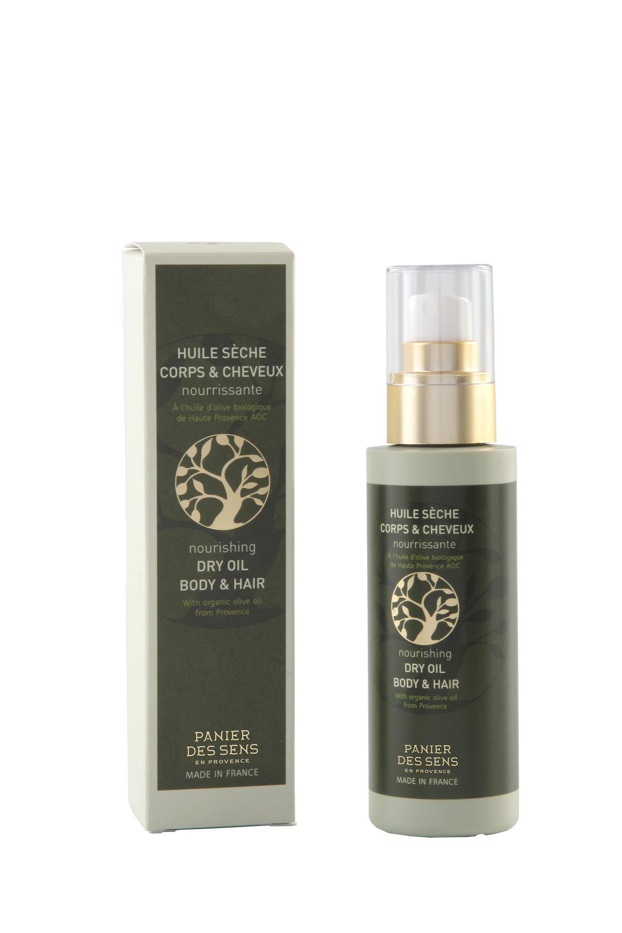 Panier des Sens Olej na tělo a vlasy s olivovým olejem, zelená barva