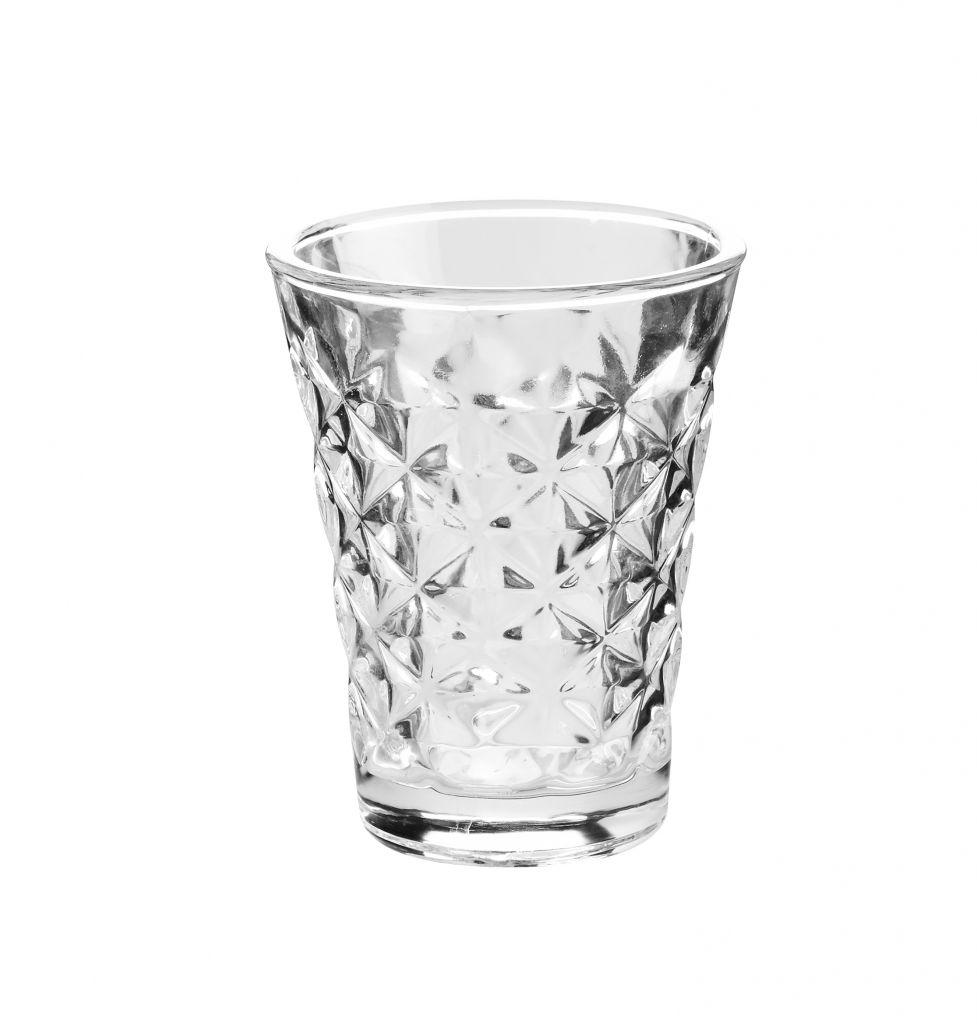 Tine K Home Svícen Facet glass Clear 10 cm, čirá barva, sklo