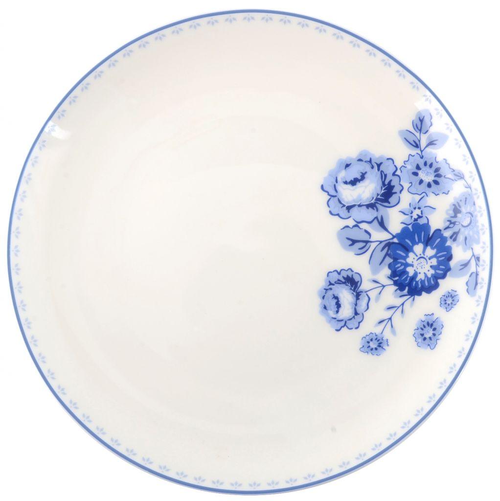 IB LAURSEN Dezertní talíř Blue Rose, modrá barva, porcelán 20 cm