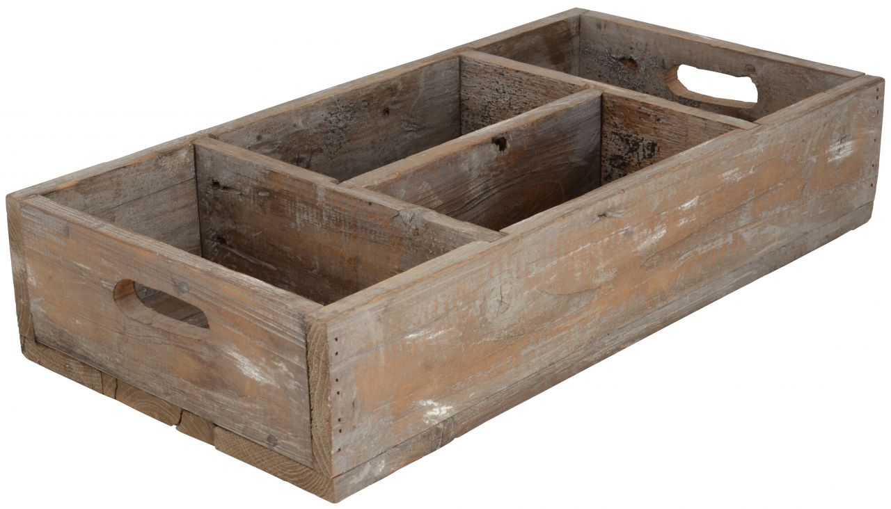 IB LAURSEN Dřevěný box s přihrádkami Various, hnědá barva, dřevo