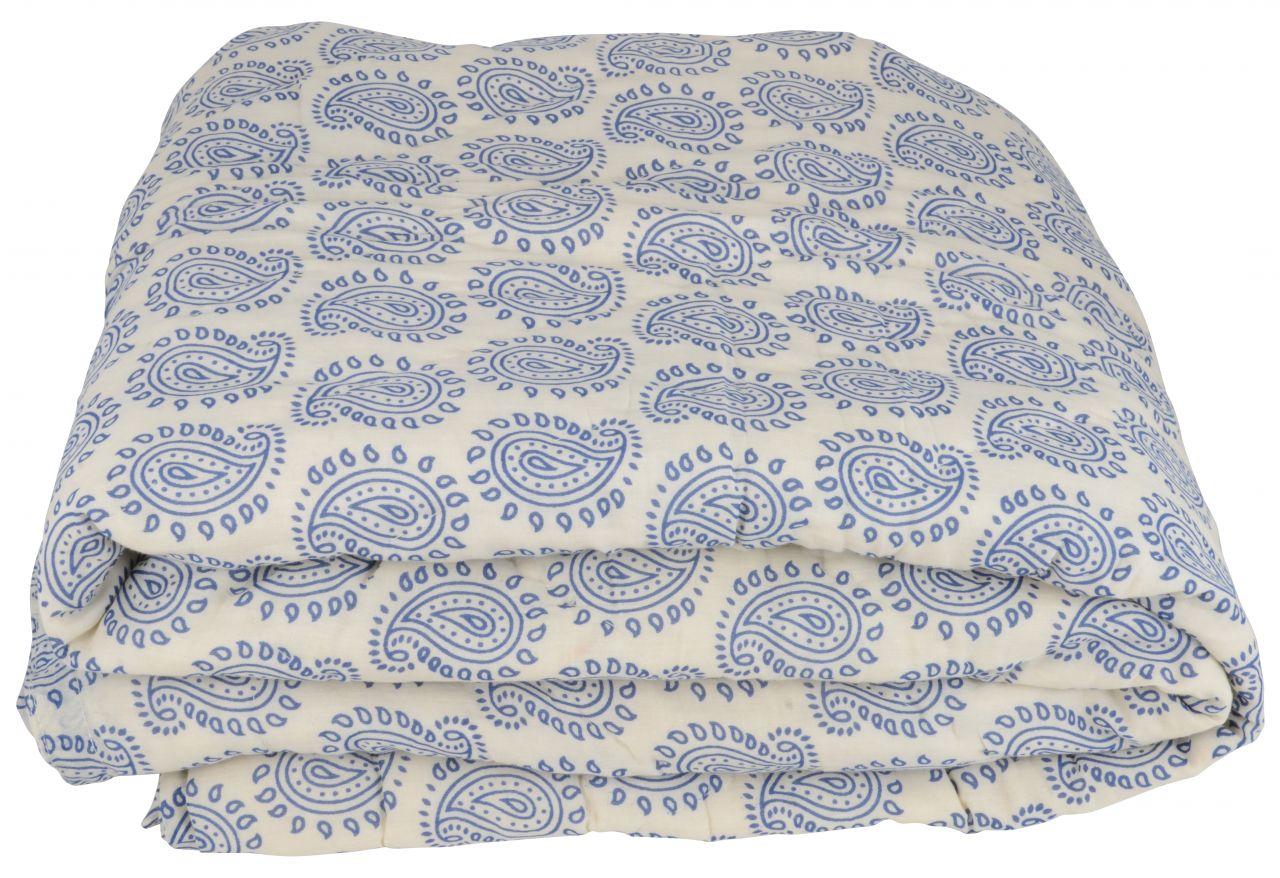 Bavlněný přehoz Blue Paisley cream 180x130