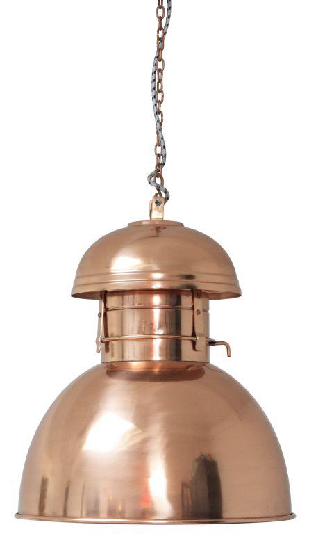 HK living Maxi stropní lampa Copper, měděná barva, kov