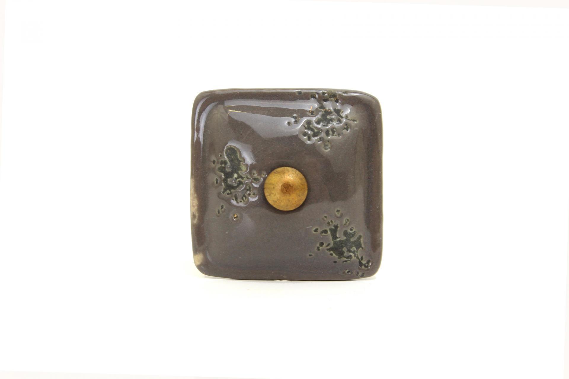 La finesse Úchytka Grey square, šedá barva, keramika