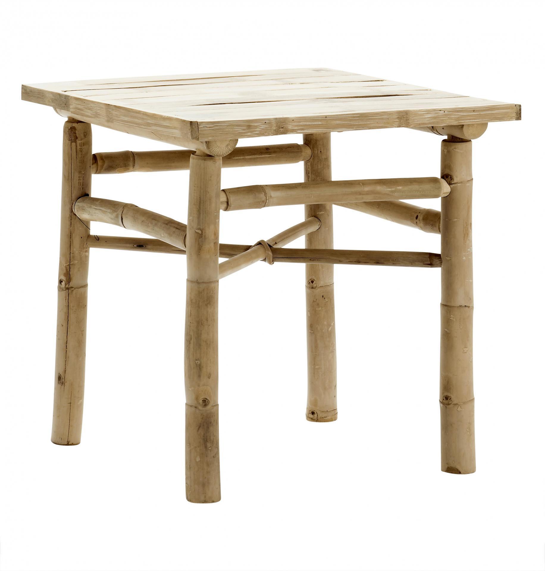 tineKhome Bambusový stolek 45 cm, béžová barva