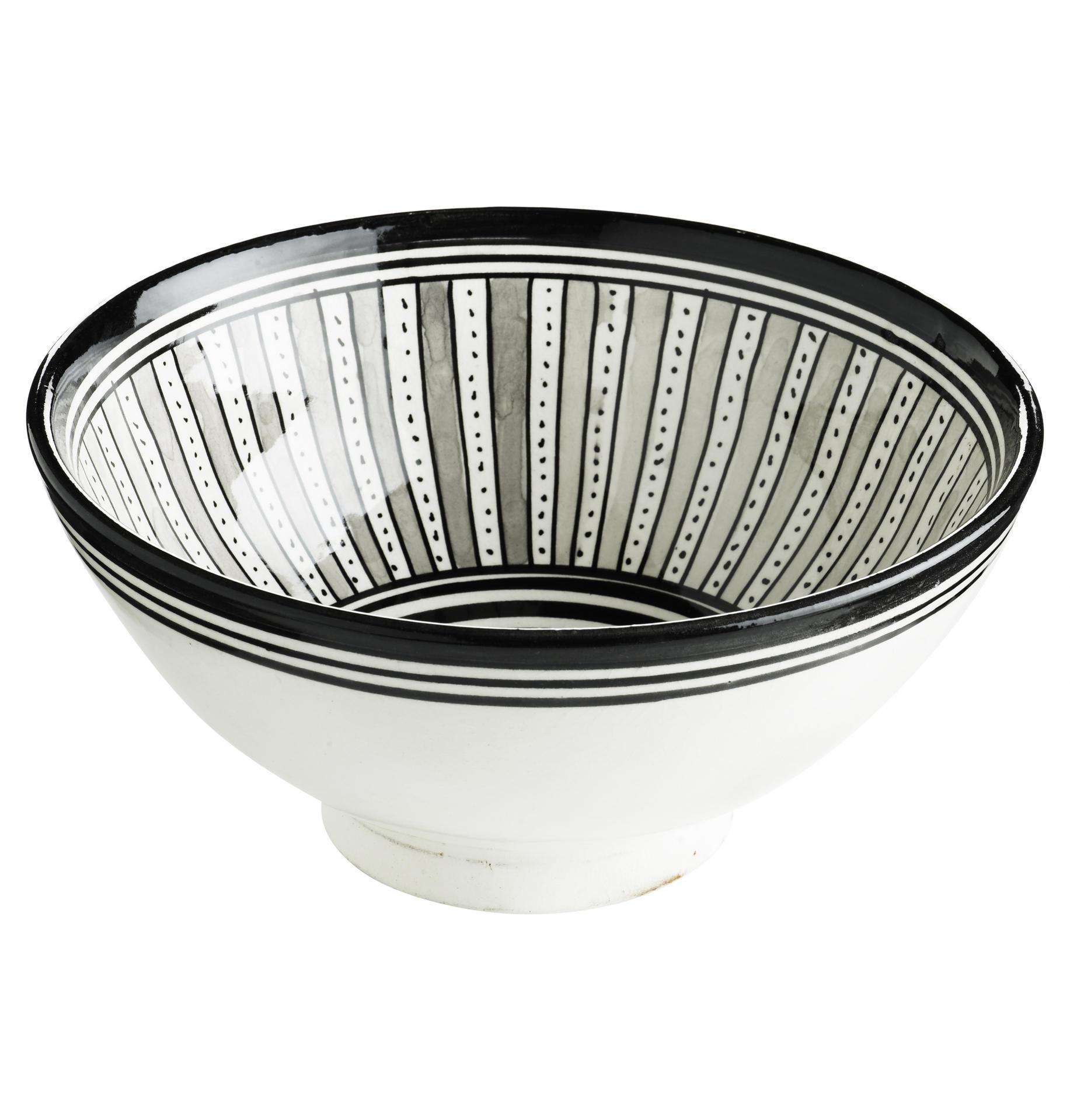 Tine K Home Salátová mísa Black Morocco 30 cm., černá barva, keramika